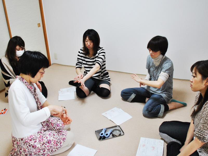 お灸教室+