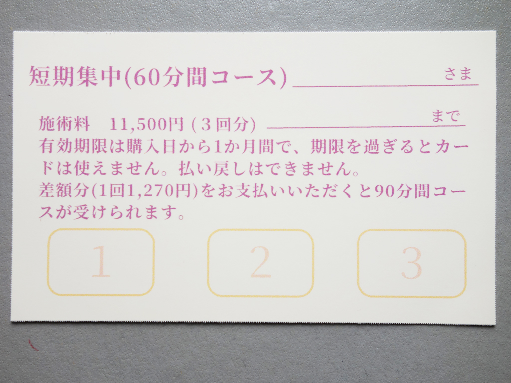 短期集中カード